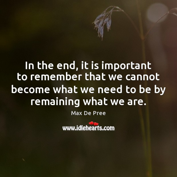 In the end, it is important to remember that we cannot become Image