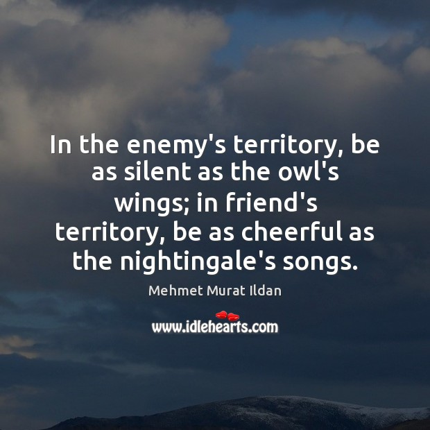 Image, In the enemy's territory, be as silent as the owl's wings; in