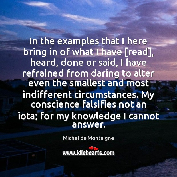 Image, In the examples that I here bring in of what I have [