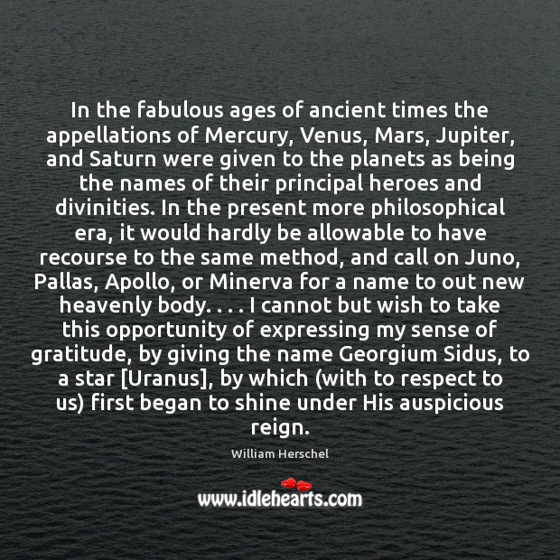 Image, In the fabulous ages of ancient times the appellations of Mercury, Venus,