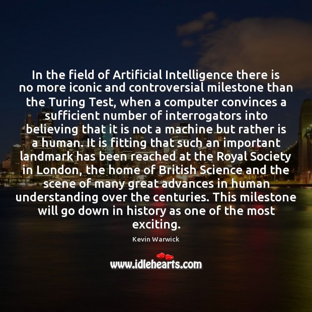 In the field of Artificial Intelligence there is no more iconic and Image