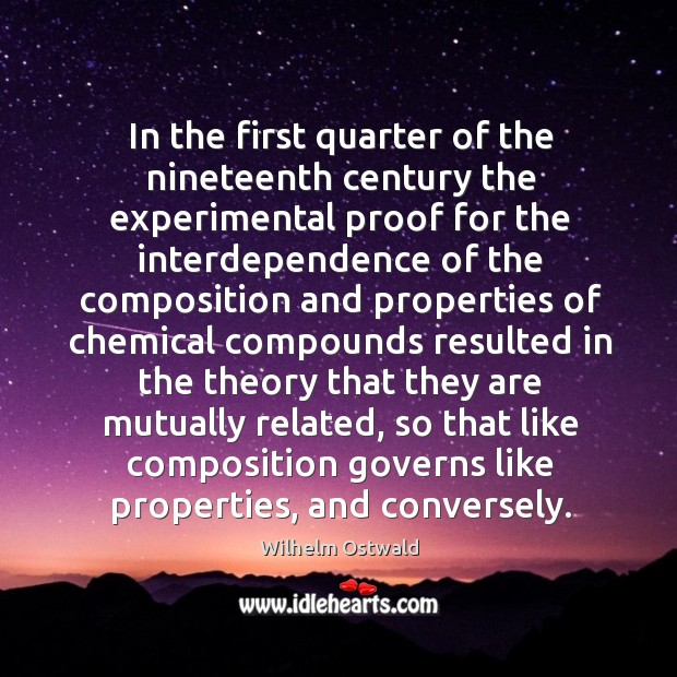 In the first quarter of the nineteenth century the experimental proof for the Image