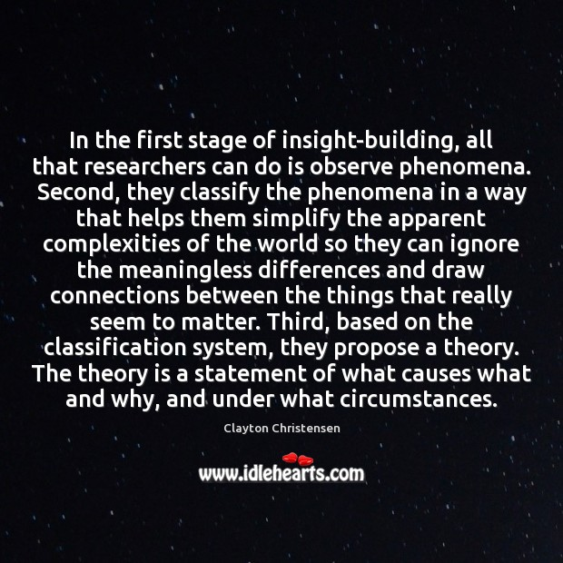 In the first stage of insight-building, all that researchers can do is Image