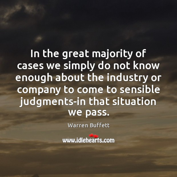 Image, In the great majority of cases we simply do not know enough
