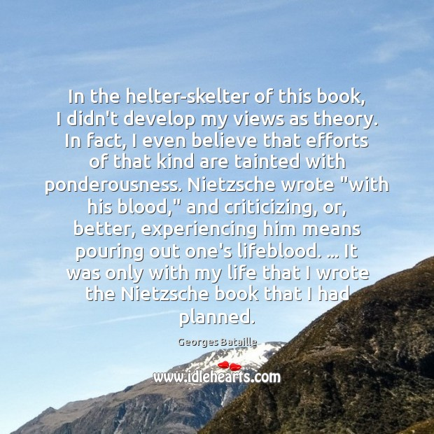 Image, In the helter-skelter of this book, I didn't develop my views as