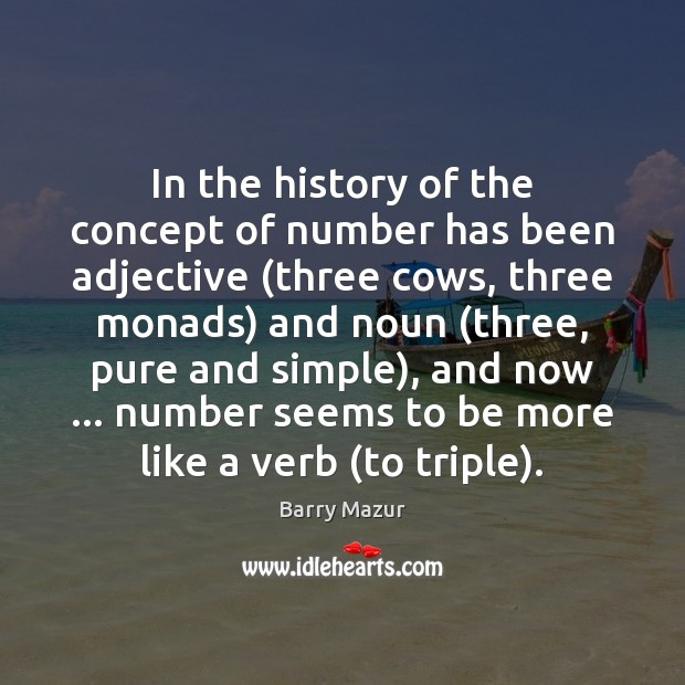 In the history of the concept of number has been adjective (three Image