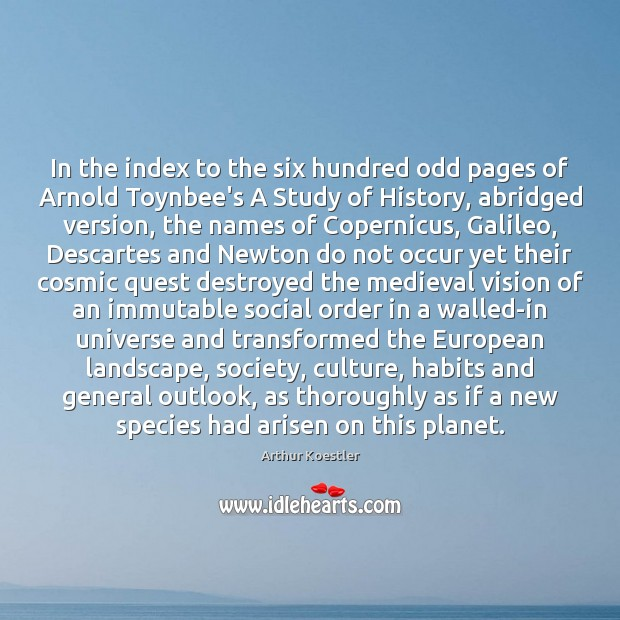 Image, In the index to the six hundred odd pages of Arnold Toynbee's