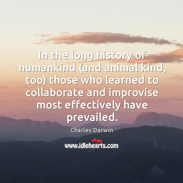 Image, In the long history of humankind (and animal kind, too) those who learned to collaborate