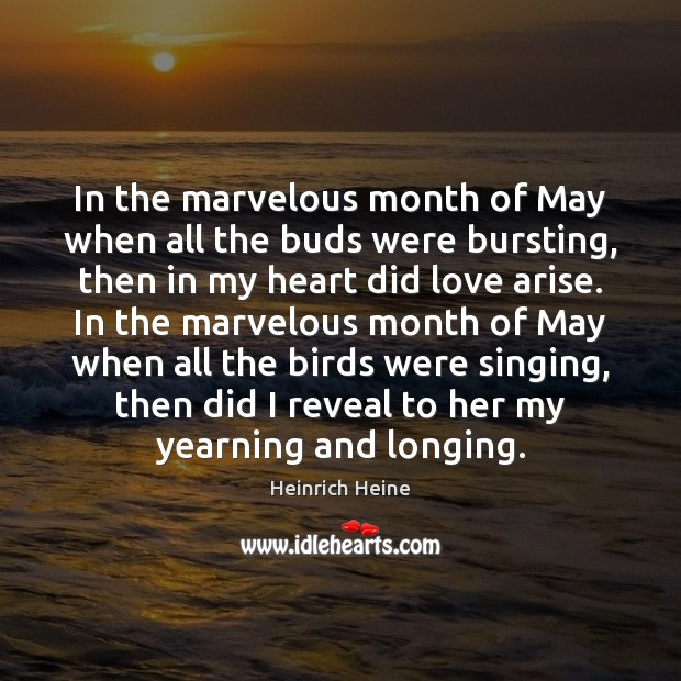 Image, In the marvelous month of May when all the buds were bursting,