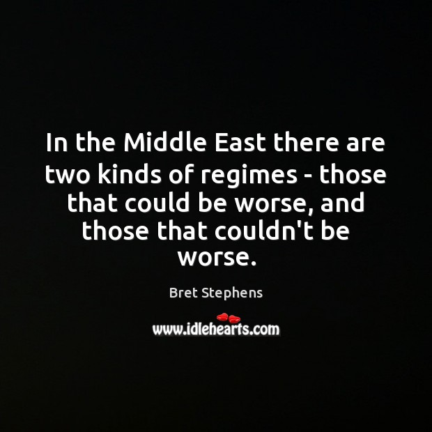 Image, In the Middle East there are two kinds of regimes – those