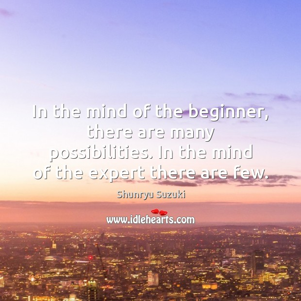 In the mind of the beginner, there are many possibilities. In the Image