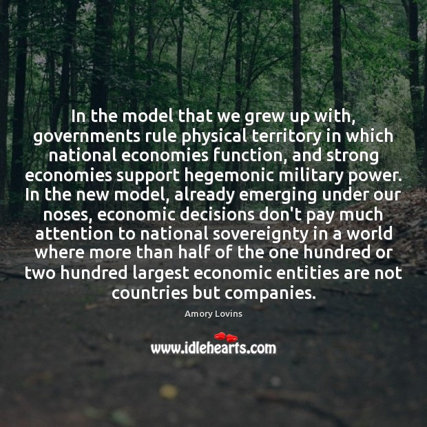 Image, In the model that we grew up with, governments rule physical territory