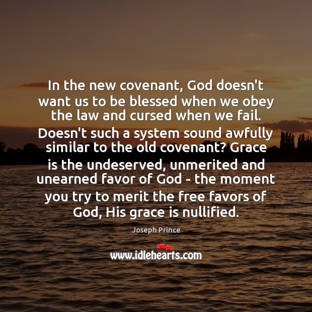 Image, In the new covenant, God doesn't want us to be blessed when
