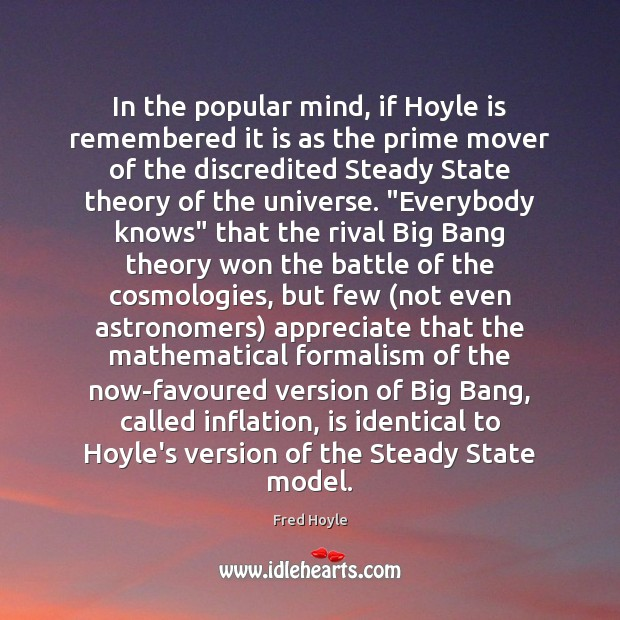 Image, In the popular mind, if Hoyle is remembered it is as the