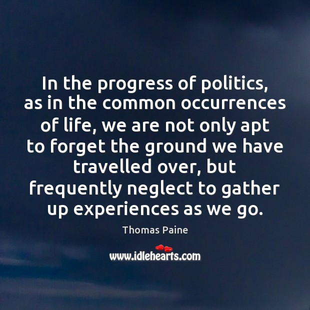 Image, In the progress of politics, as in the common occurrences of life,