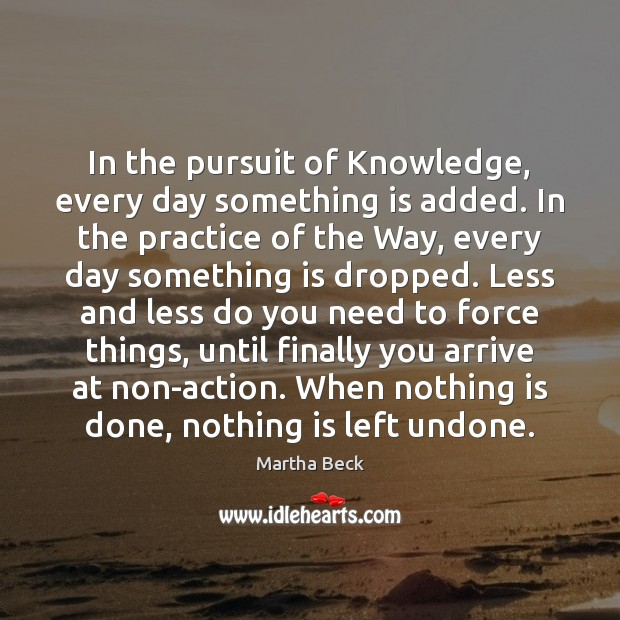 Image, In the pursuit of Knowledge, every day something is added. In the
