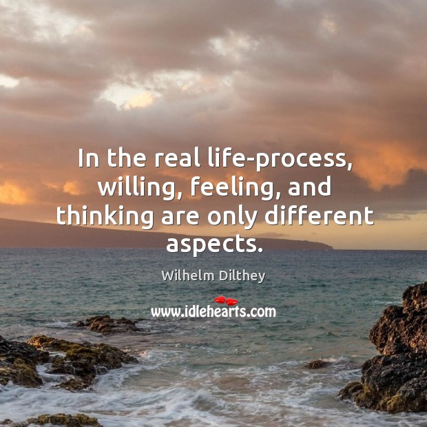 In the real life-process, willing, feeling, and thinking are only different aspects. Image