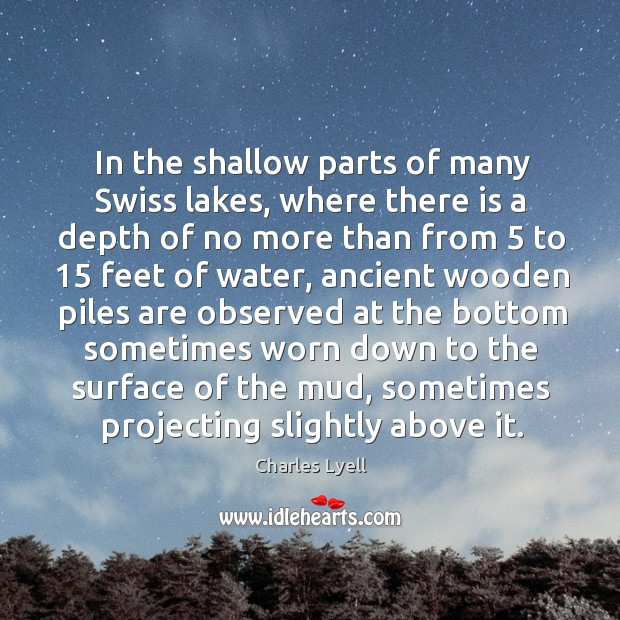 In the shallow parts of many swiss lakes, where there is a depth of no more Image