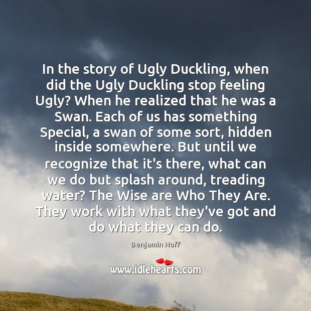In the story of Ugly Duckling, when did the Ugly Duckling stop Image