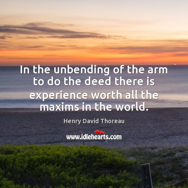 In the unbending of the arm to do the deed there is Image