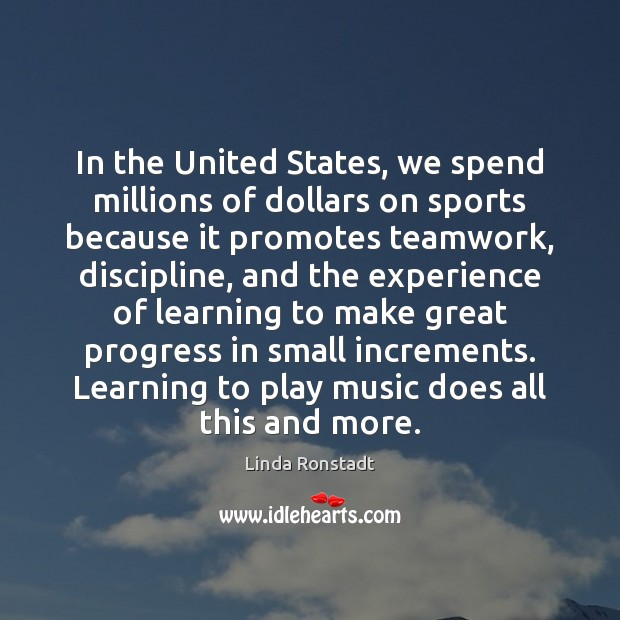 Image, In the United States, we spend millions of dollars on sports because