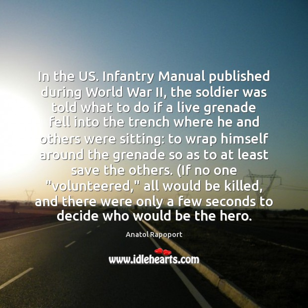 Image, In the US. Infantry Manual published during World War II, the soldier