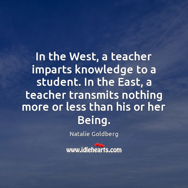 In the West, a teacher imparts knowledge to a student. In the Image