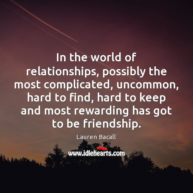 Image, In the world of relationships, possibly the most complicated, uncommon, hard to