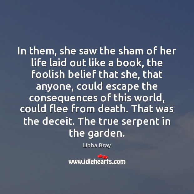 In them, she saw the sham of her life laid out like Image