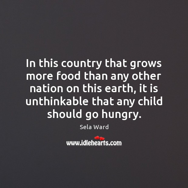 In this country that grows more food than any other nation on Image