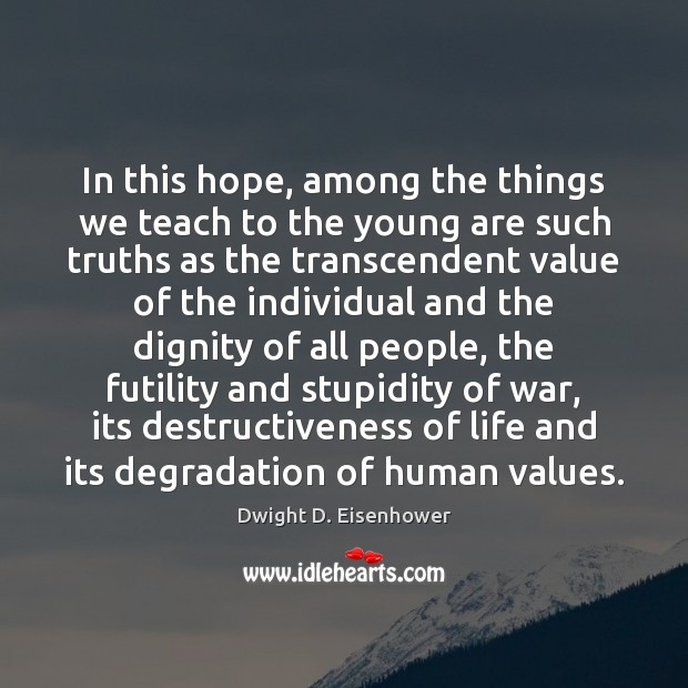 In this hope, among the things we teach to the young are Image