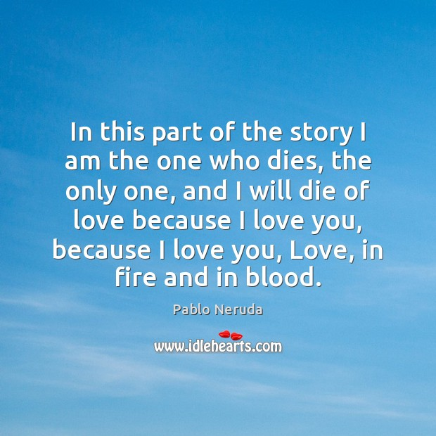 In this part of the story I am the one who dies, Image