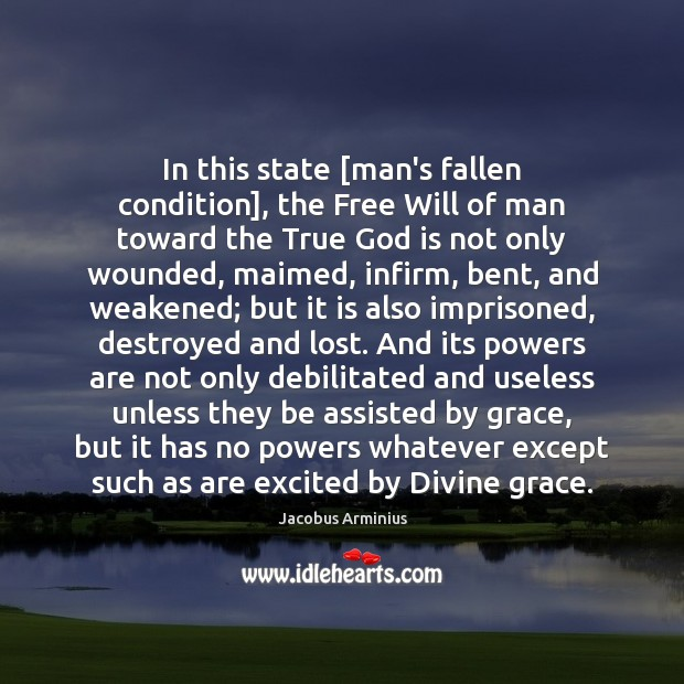 In this state [man's fallen condition], the Free Will of man toward Image
