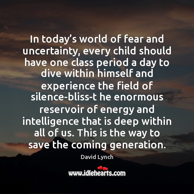 Image, In today's world of fear and uncertainty, every child should have