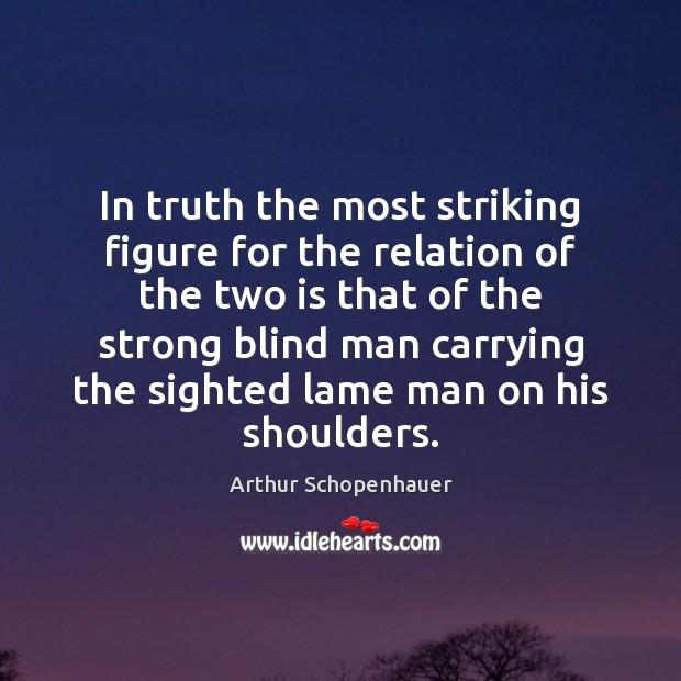 In truth the most striking figure for the relation of the two Image