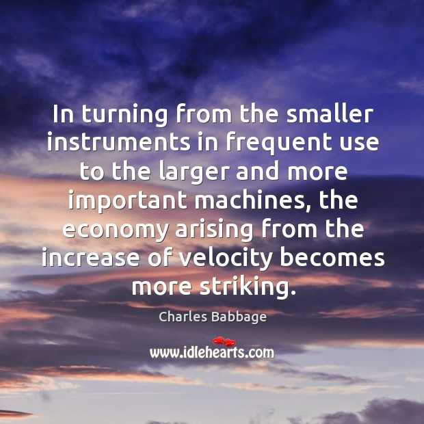 In turning from the smaller instruments in frequent use to the larger and more important Image