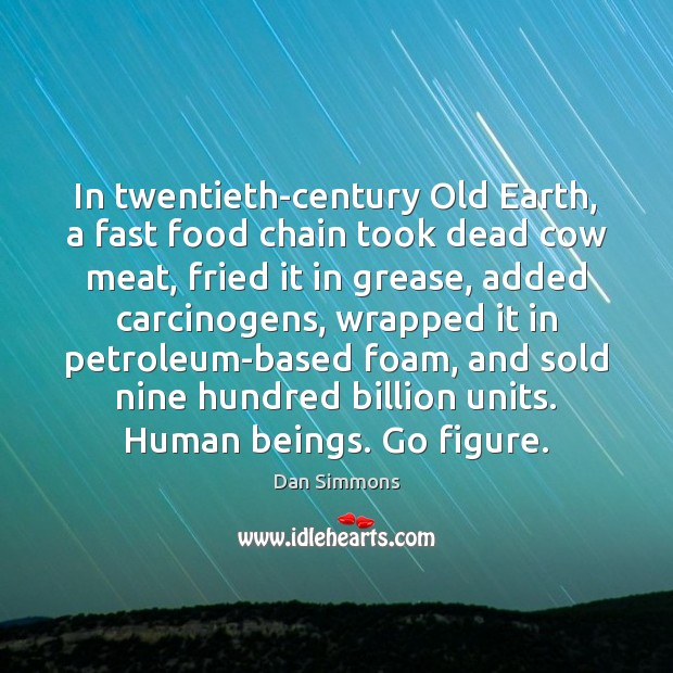 In twentieth-century Old Earth, a fast food chain took dead cow meat, Image