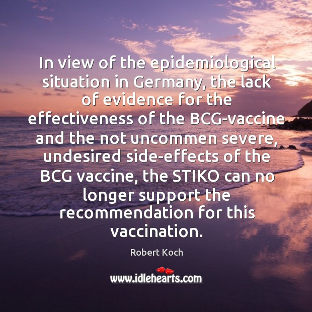 In view of the epidemiological situation in Germany, the lack of evidence Image