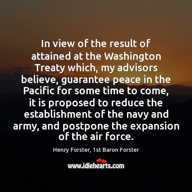 In view of the result of attained at the Washington Treaty which, Image