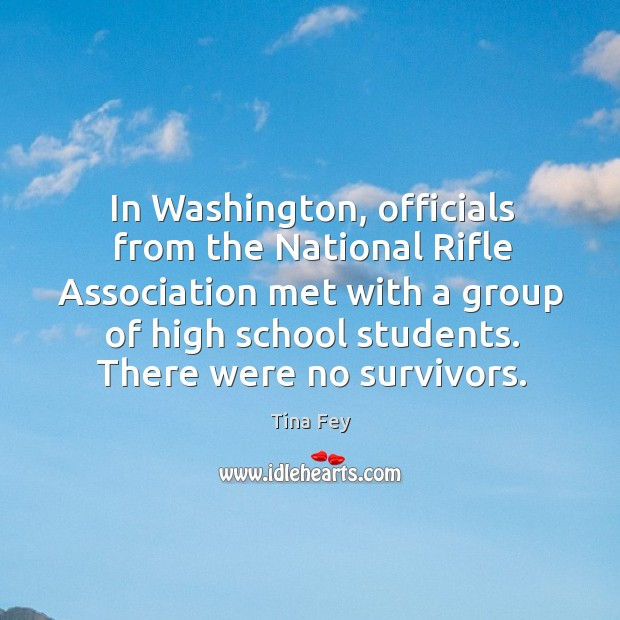 Image, In Washington, officials from the National Rifle Association met with a group