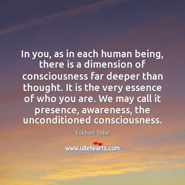 In you, as in each human being, there is a dimension of Image