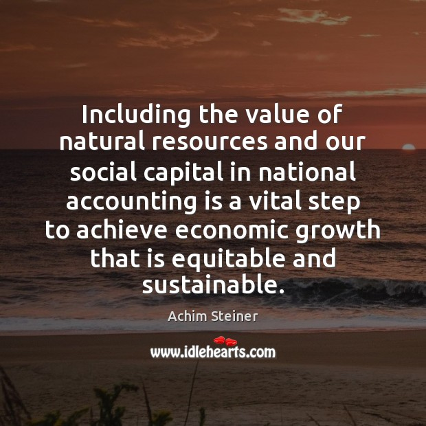 Image, Including the value of natural resources and our social capital in national