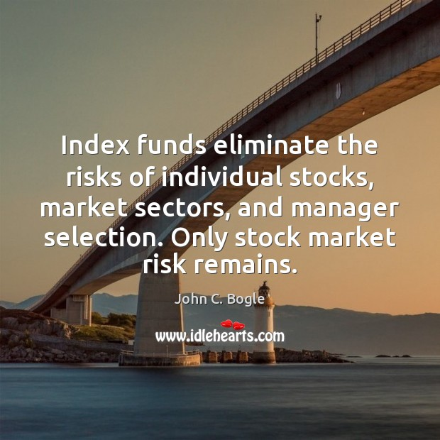Image, Index funds eliminate the risks of individual stocks, market sectors, and manager