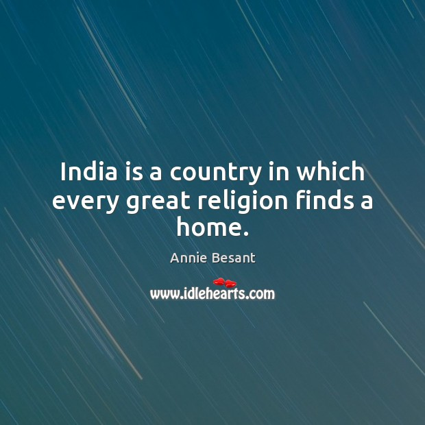 India is a country in which every great religion finds a home. Image