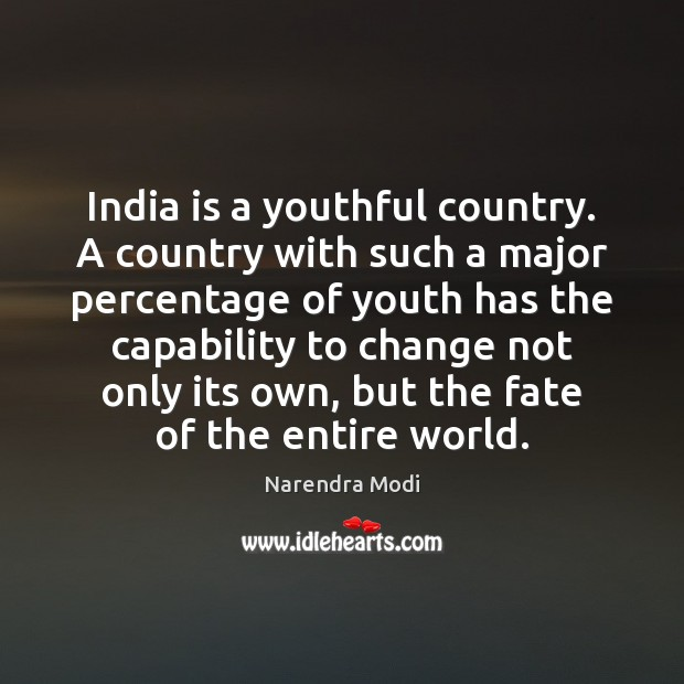 Image, India is a youthful country. A country with such a major percentage