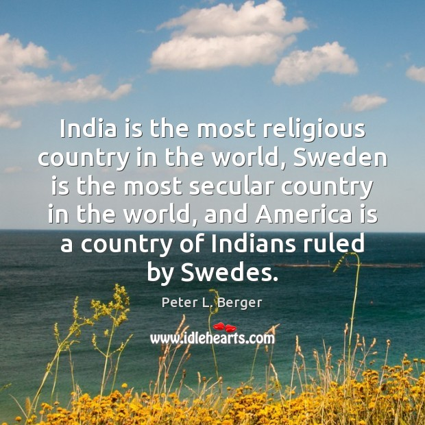 Image, India is the most religious country in the world, Sweden is the