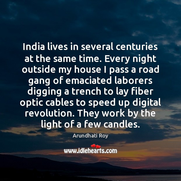 India lives in several centuries at the same time. Every night outside Image