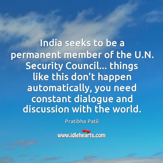 Image, India seeks to be a permanent member of the U.N. Security