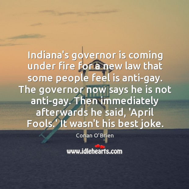 Image, Indiana's governor is coming under fire for a new law that some