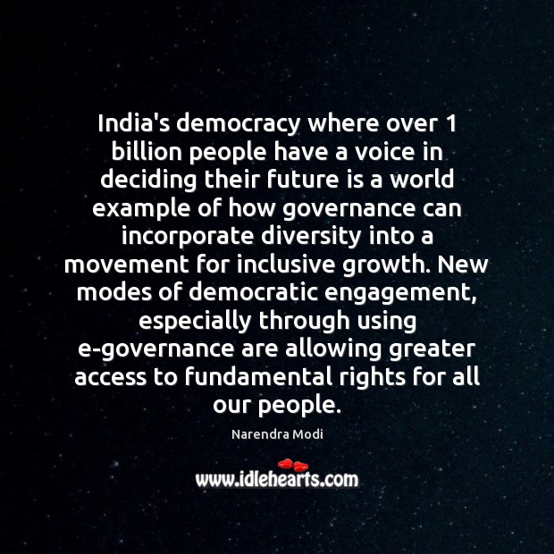 Image, India's democracy where over 1 billion people have a voice in deciding their